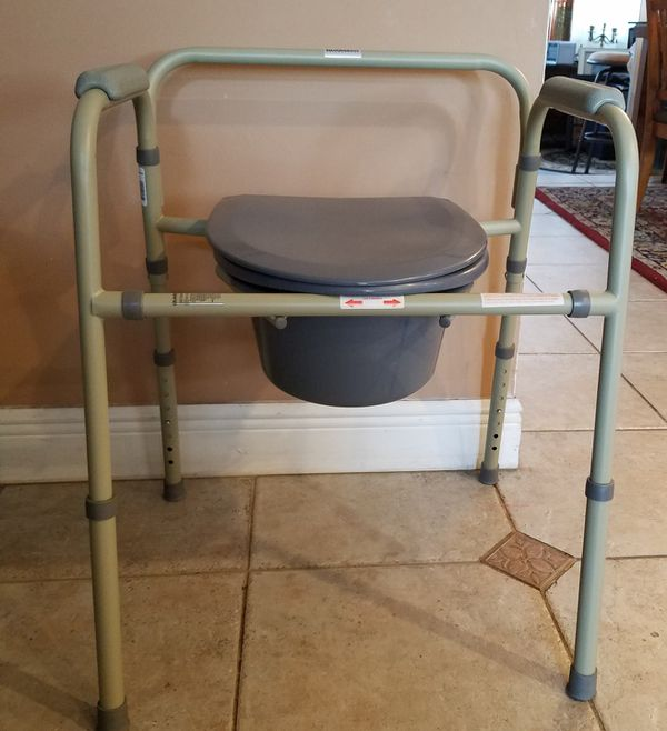 Bedside commode, and rolling walker not pictured. Walker is new ...
