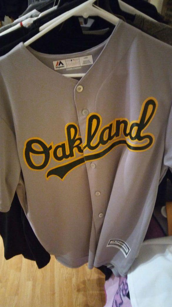 Oakland Athletics Majestic Lawrie Away Jersey