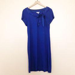 H&M Blue Ribbon Knit Dress Size Large Thumbnail