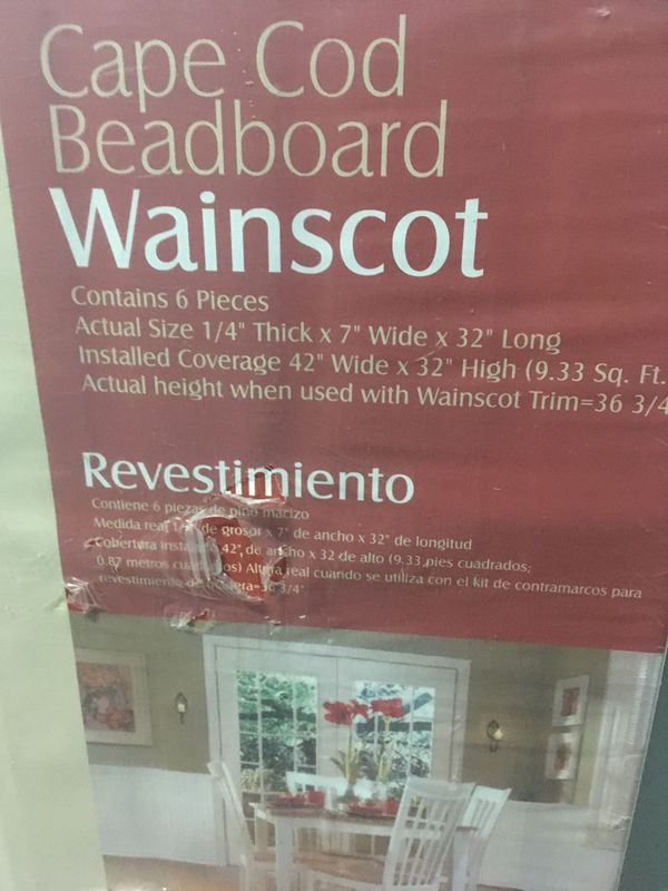 Cape Cod Beadboard Wainscoting 2 Unopened Packs Retails 18 Each