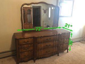 Photo 9 Drawer French Provincial Dresser with Mirror