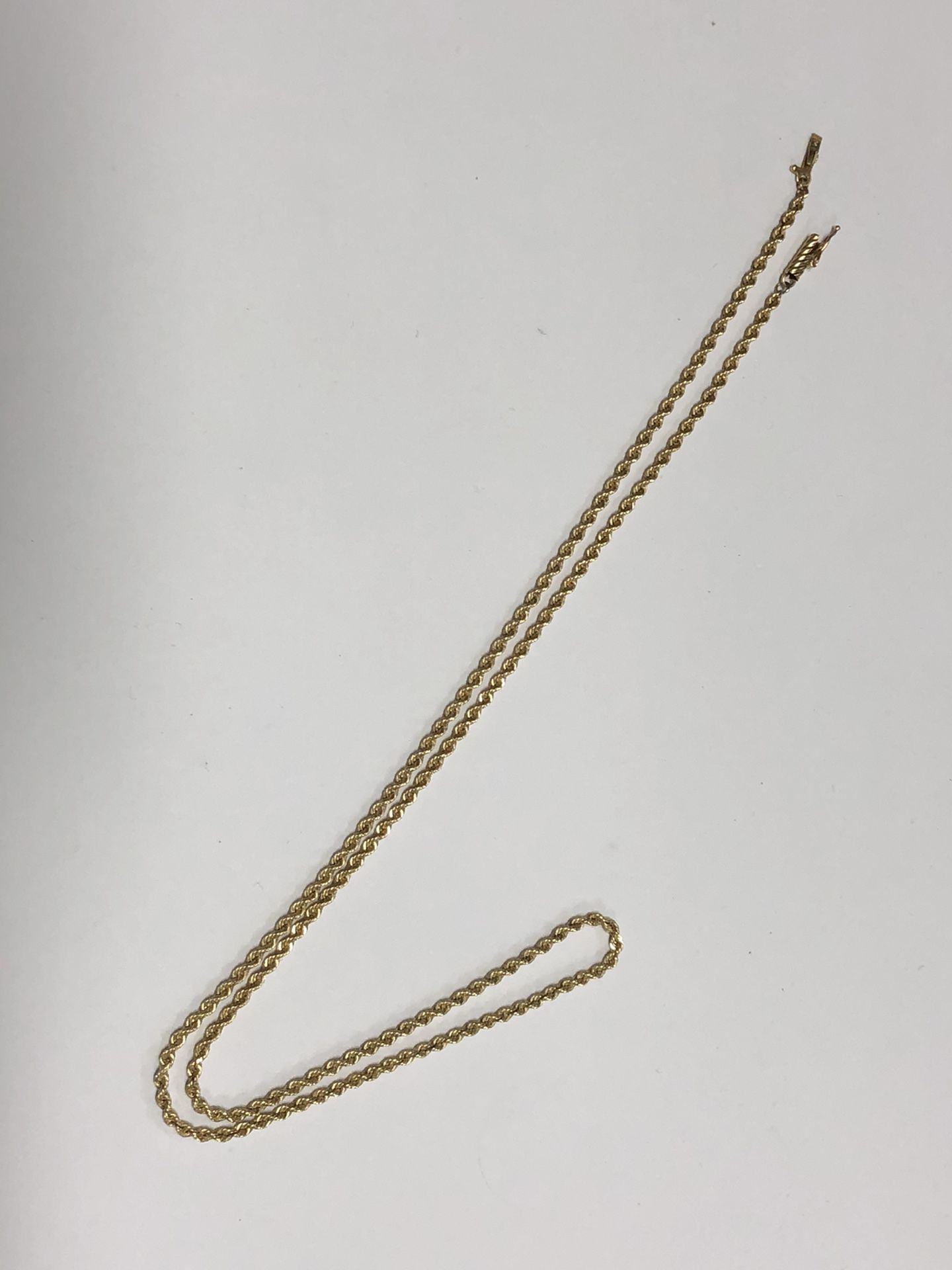 """14k Gold Rope Chain 12.1 Grams 22"""""""