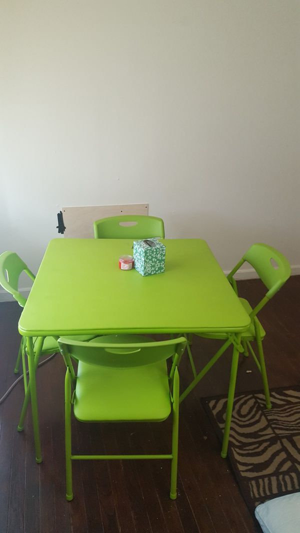 Cosco 5 piece folding table and chair set. OBO (Furniture) in Omaha ...