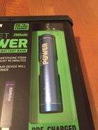 Sharper Image Pocket Power Rechargeable Battery Bank 2000mah For