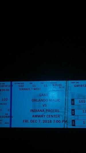 Orlando Magic vs Indiana Pacers for Sale in Orlando, FL