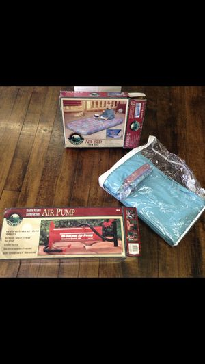 Air Bed Twin Size in original package, plus Air Pump high volume output for Sale in Jersey City, NJ