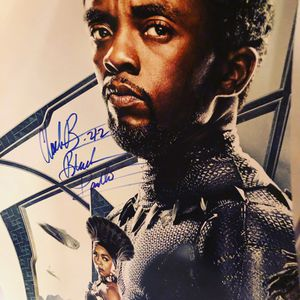 Memorabilia: Cast autographed Black Panther film poster for Sale in McLean, VA