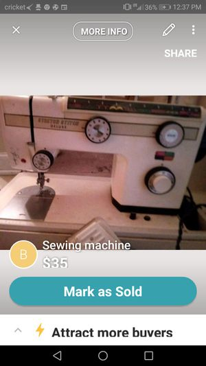 New And Used Sewing Machines For Sale In Birmingham AL OfferUp Enchanting Cricket Sewing Machine