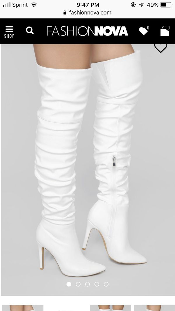 4352c9b32e2 Fashion Nova White Boots Really Cute In Cbell Ca Offerup. Fashion Nova Dress