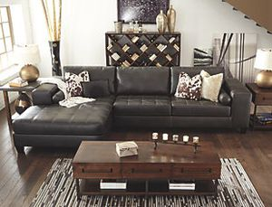 On sale!! Brand new 2pc charcoal leather sectional couch $799 for Sale in Richmond, VA