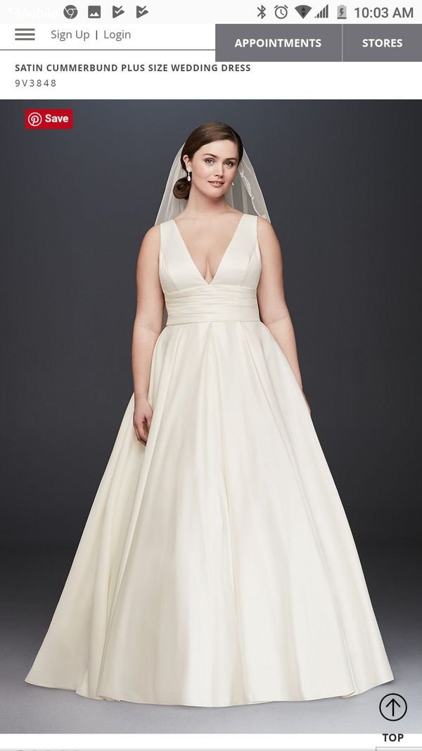 David\'s bridal Satin wedding dress plus size for Sale in Mansfield ...