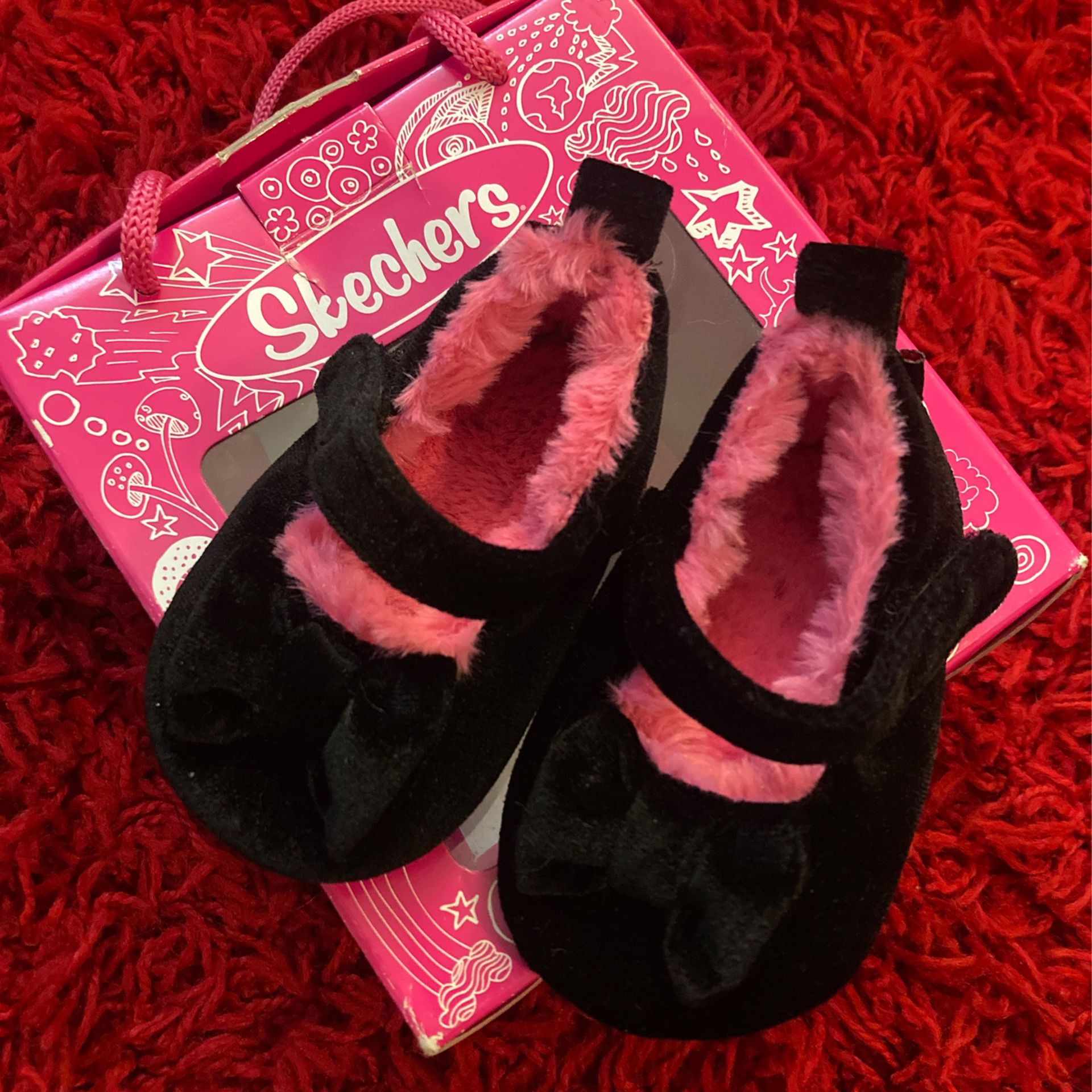 Baby Girl Skechers Shoes Size 1 New In Box
