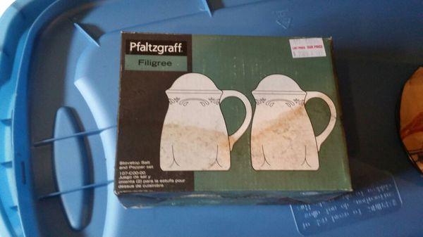 Pfaltzgraff Filigree Salt & Pepper Shaker for Sale in York Village ...