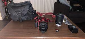 RED NIKON D3200 camera for Sale in Herndon, VA