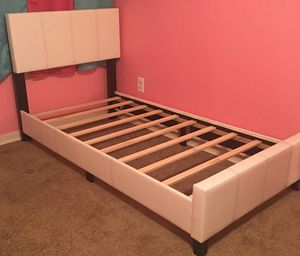 Brand New Twin Size Leather Platform Bed for Sale in Chevy Chase, MD