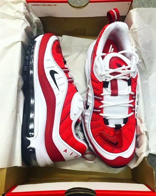 low priced 0387e 34ee3 Nike W Air Max 98 Gym Red Size 10 MENS' /WOMENS' 11.5 Valentines Day AIR  MAX Sneakers for Sale in Bronx, NY - OfferUp
