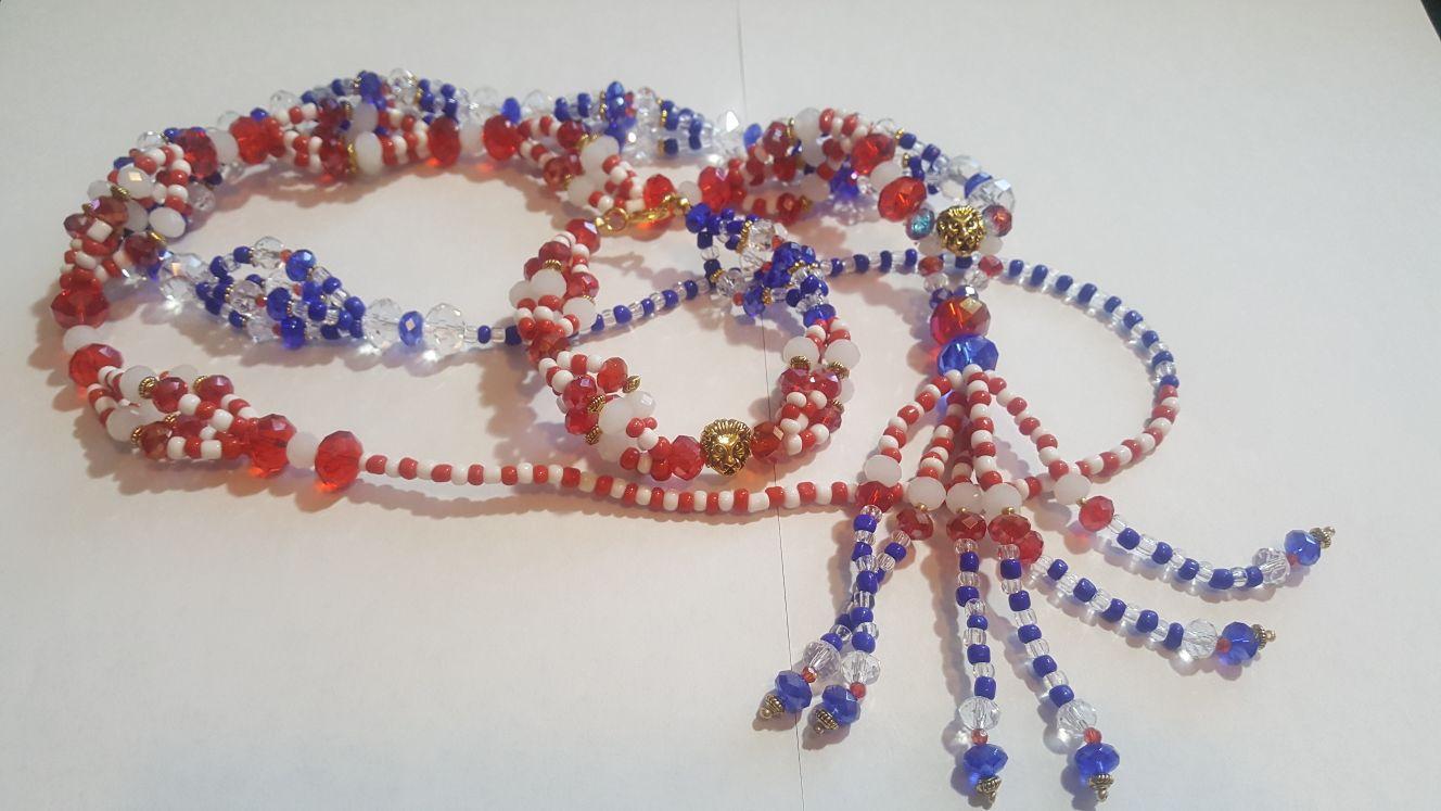 Conjunto de idde y collar-Religion yoruba