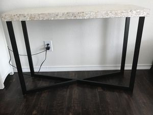 Pier 1 Mother of Pearl Console Table for Sale in North Royalton, OH