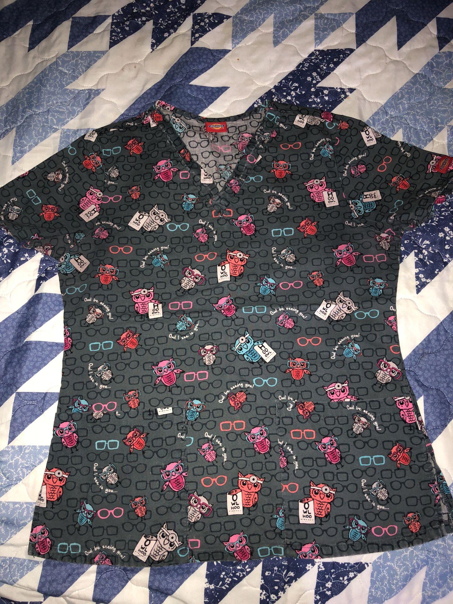 Size small scrub top