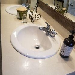 Quartz Top, Backsplash, 2 Sinks, and 2 Faucets  Thumbnail
