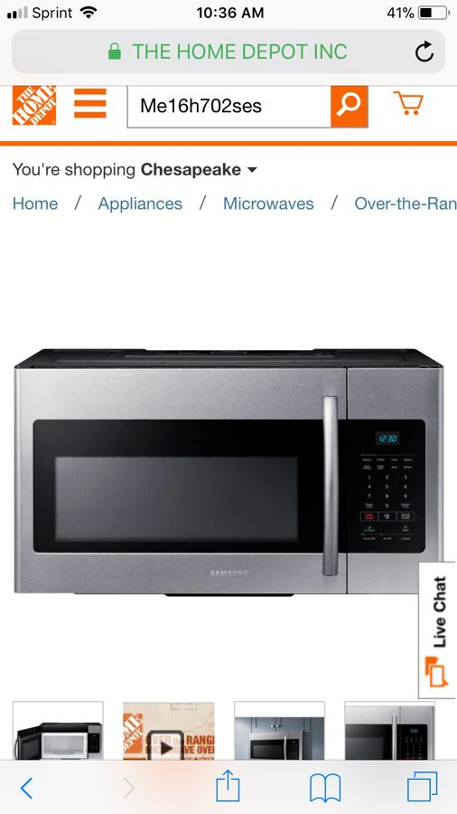 Samsung Over The Range Microwave Bnib For Sale In Chesapeake Va