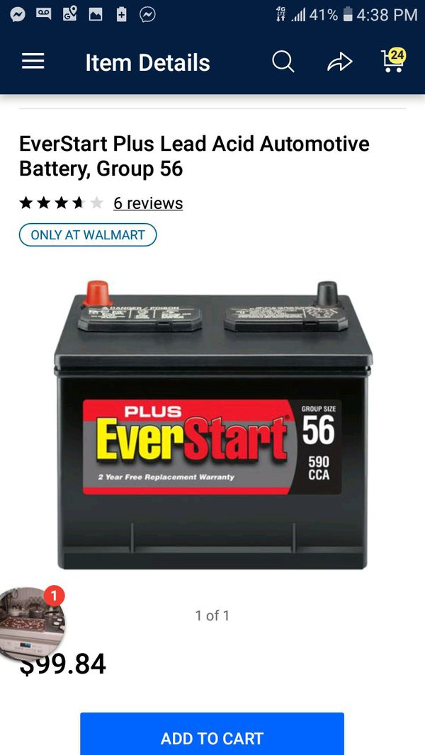 Brand new never used Everlast car battery group 56 for Sale in Lacey, WA -  OfferUp