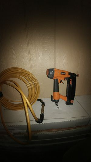 16 gauge ridgid nail gun with 50ft hose for Sale in Laurel, MD