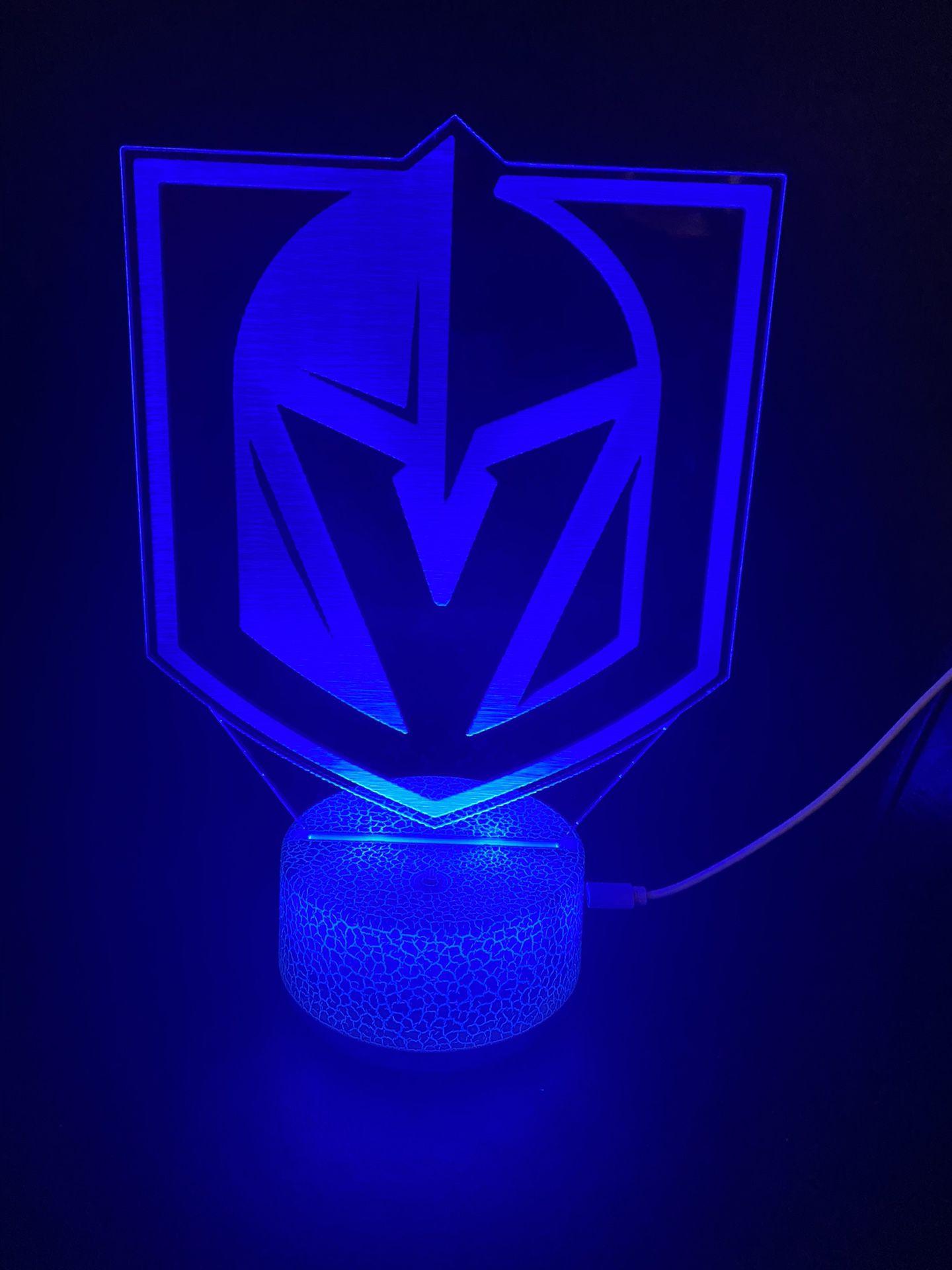 VGK Hockey Vegas 3d Lamp