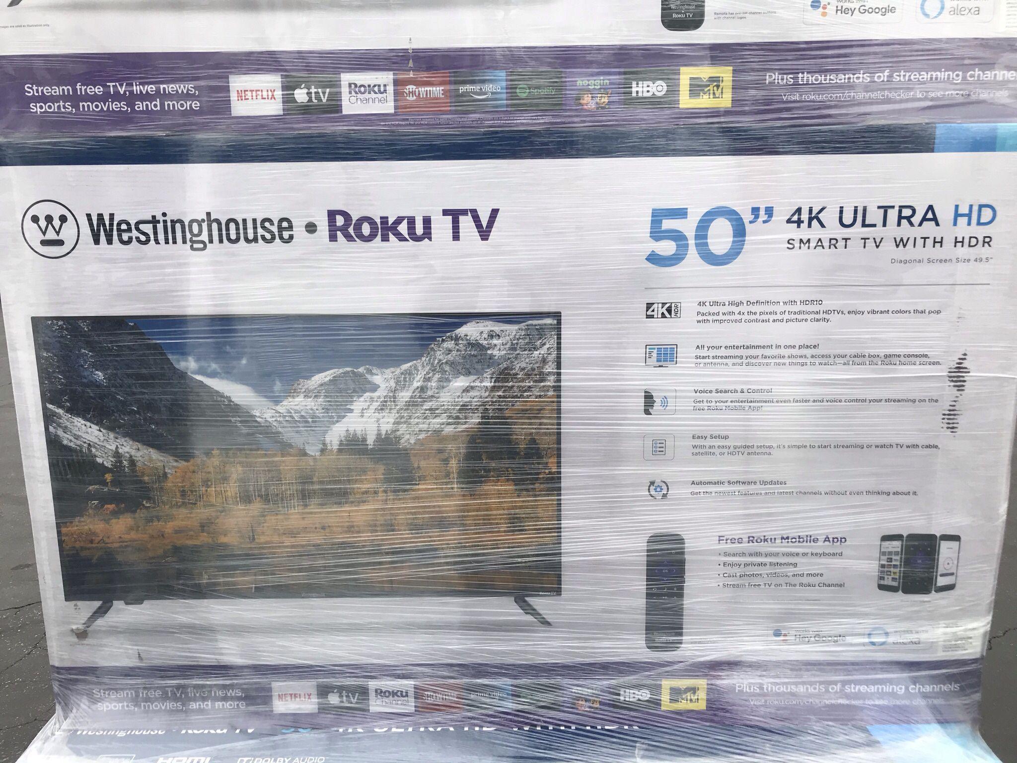 """50"""" inch Westinghouse Roku UHDTV 4K"""