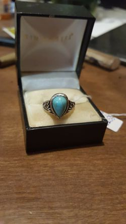 Brand New Fashion Vintage Turquoise Ladies Ring. Thumbnail
