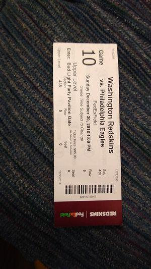 Washington Redskins 30th December for Sale in Washington, DC
