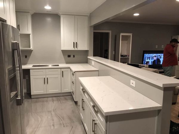 Solid wood RTA Kitchen Cabinet Quartz Counter tops Warehouse Open 2 Public. Los Angeles ...
