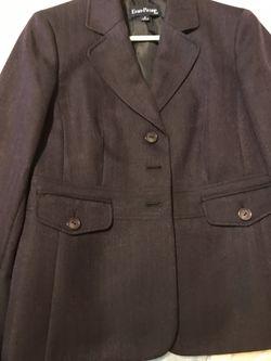 Purple Evan-Picone Suit Size 8 Thumbnail