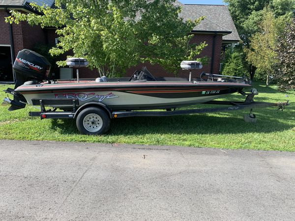 1996 pro craft 185 dual pro bass boat with trailer