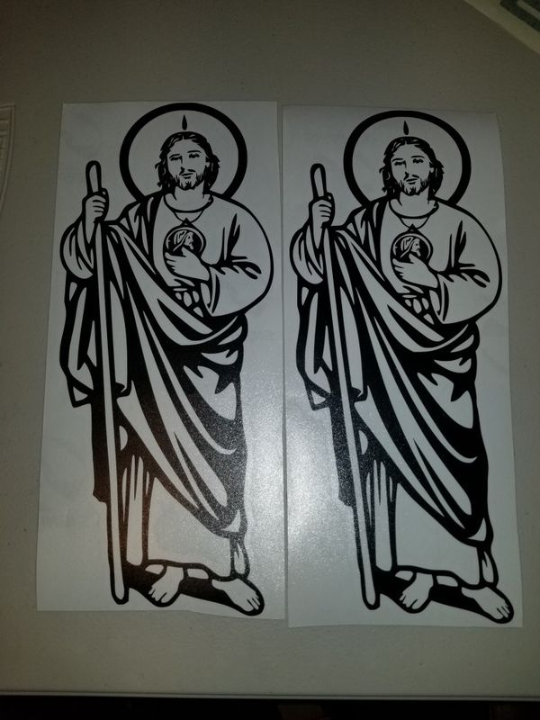 San Judas Tadeo Calcomania Sticker For Sale In Inglewood Ca Offerup