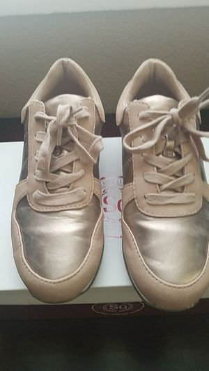 fba6ac9a29 Women s pink gold sneakers for Sale in Redlands