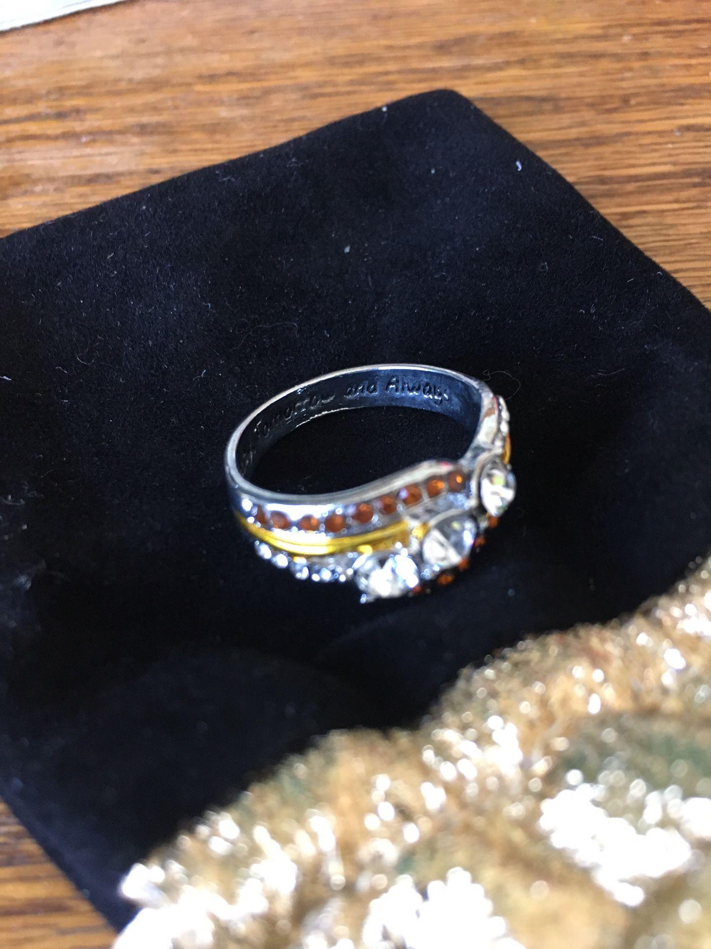 Sterling Silver, CZ ring