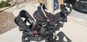 Photo Eddie Bauer Car seat, Eddie Bauer base, Sit n Stand double Stroller