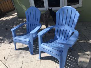 Plastic Beach Chairs Blue for Sale in Pompano Beach, FL