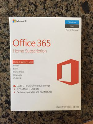Office 365 home subscription for Sale in Mercer Island, WA