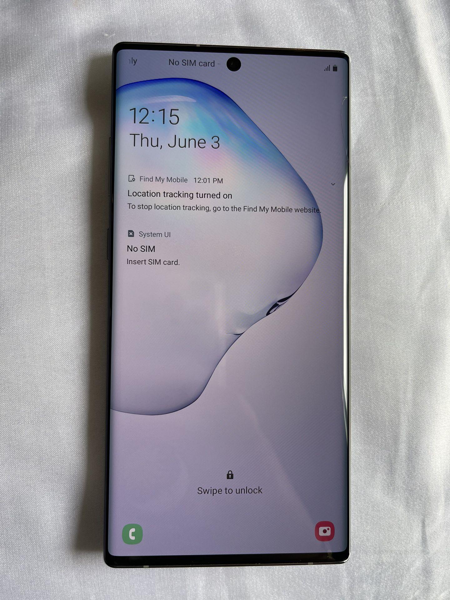 Samsung Galaxy Note 10 Plus 256GB Aurora Glow Silver - FULLY UNLOCKED