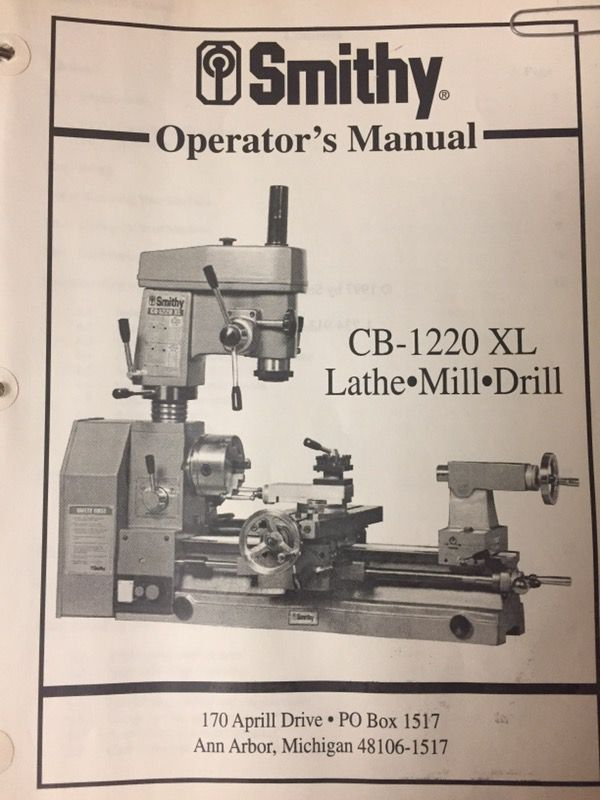 Smithy midas 1220 xl manuals.