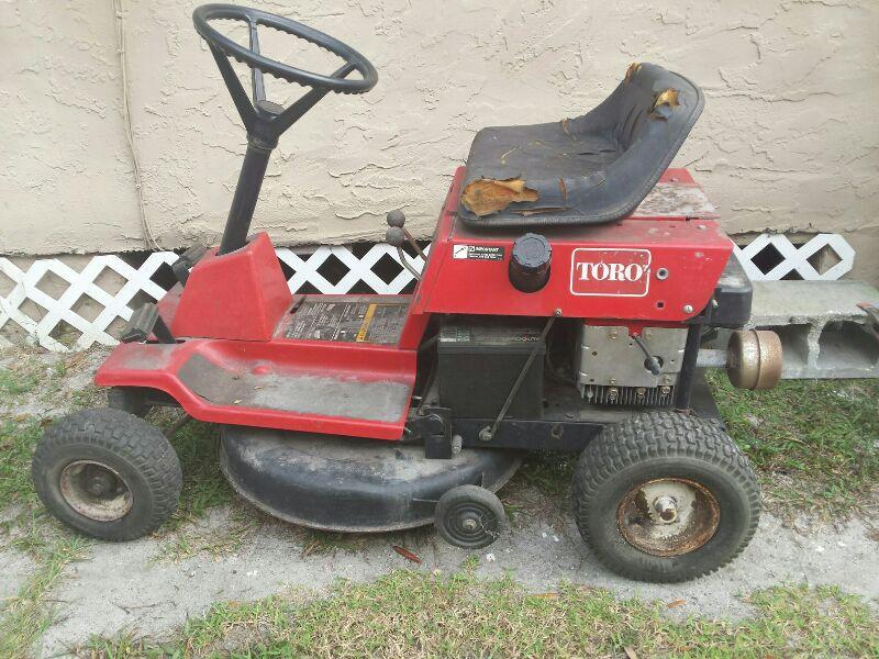 30 inch Toro riding lawnmower