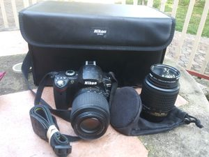 Nikon camera with 2 lenses NO charger for Sale in Irving, TX