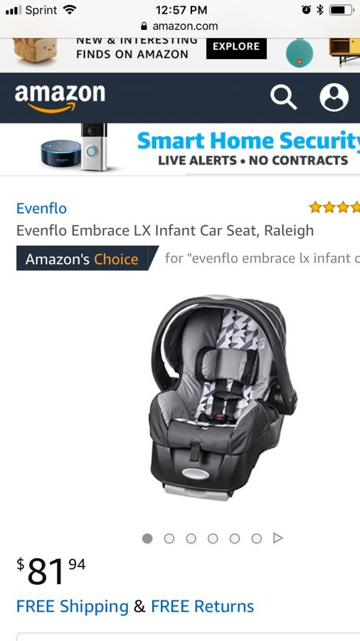 Evenflo Embrace Lx Infant Car Seat For Sale In Orlando FL