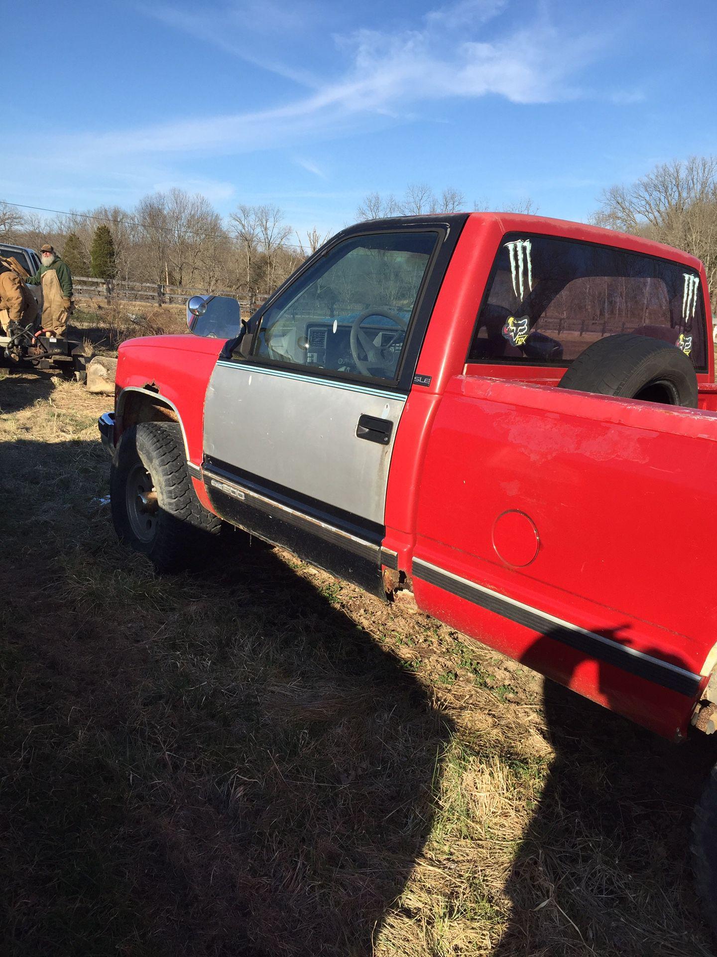 86 GMC parts truck