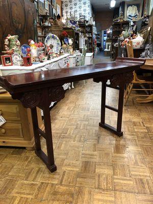 """Photo Vintage Asian entryway table sofa table altar table 60 x 16 x 35"""""""