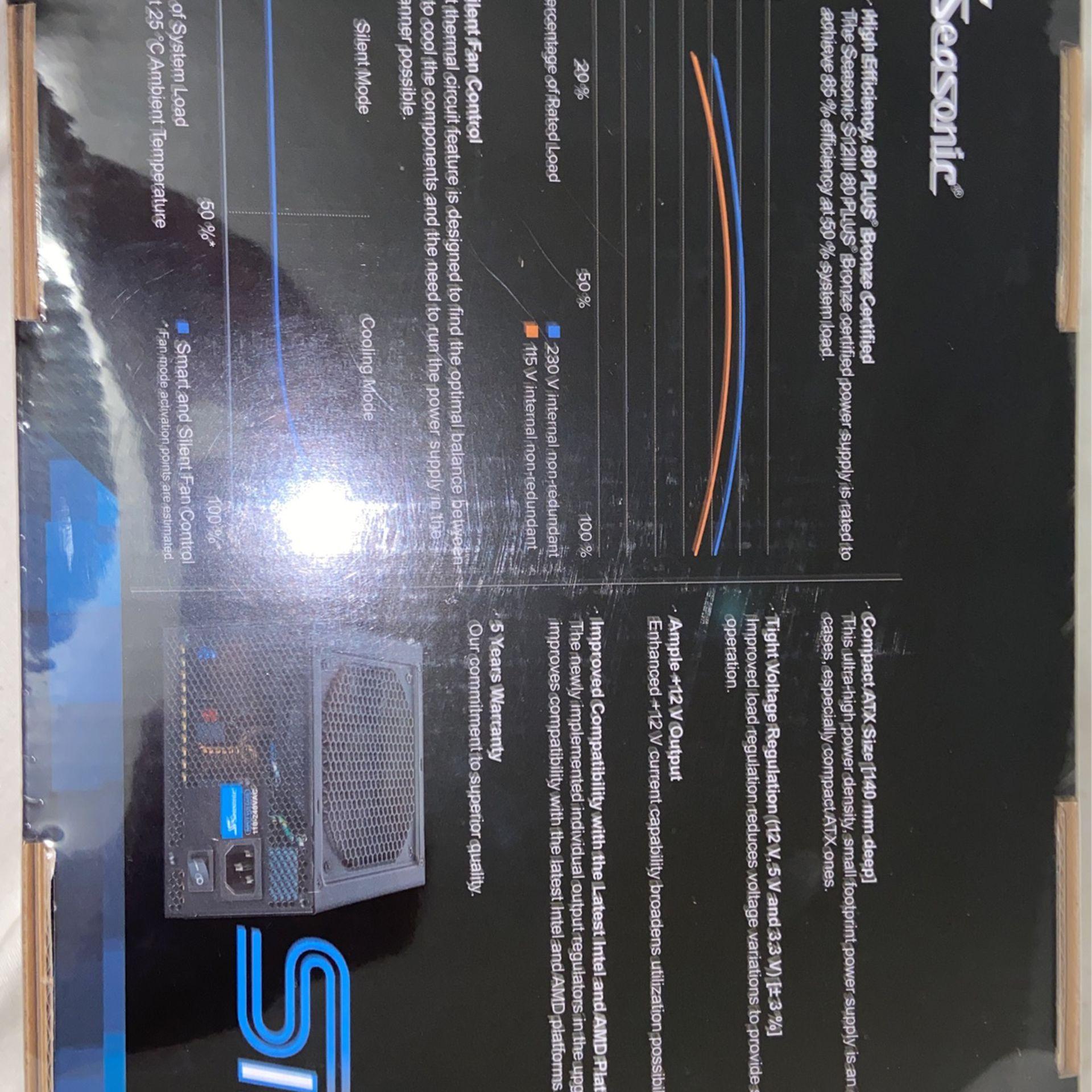 Seasonic - SSR-500GB3, 500W 80+ Bronze PSU, ATX12V/EPS12V, Direct Output, Smart & Silent Fan Control, 5 yr Warranty - Black
