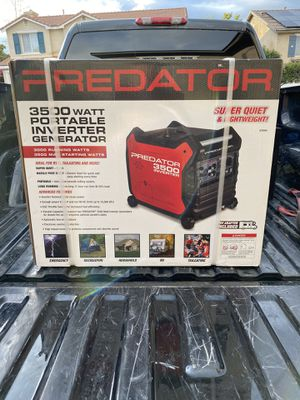 Photo 3500 watt predator generator (brand new)