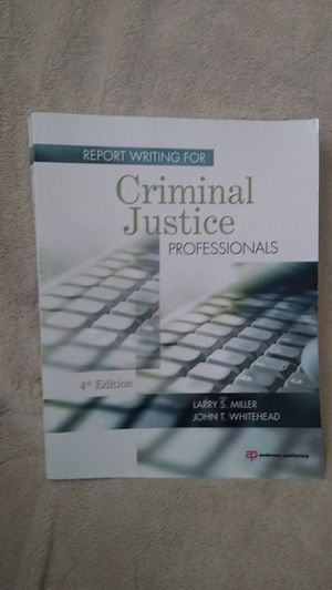 Report Writing for Criminal Justice Professionals Textbook for Sale in Bakersfield, CA